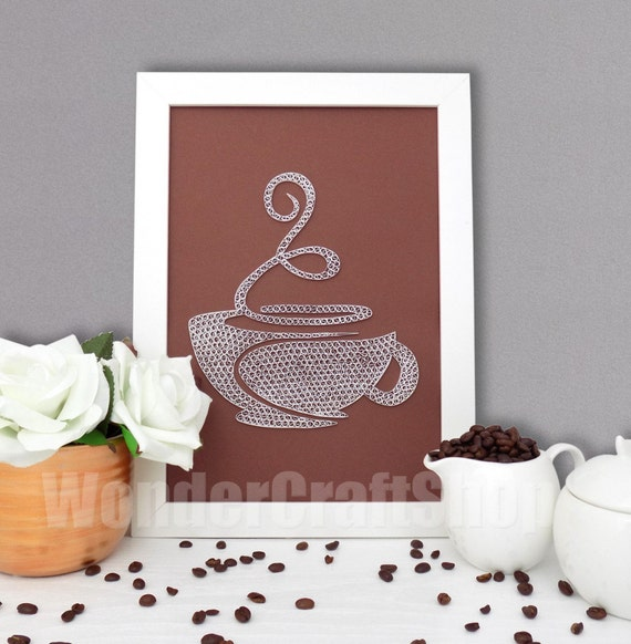 Coffee cup kitchen decor coffee sign kitchen ornament for Coffee kitchen designs