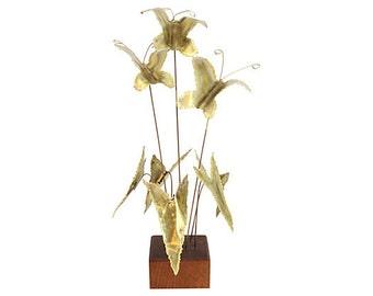Butterfly Kinetic Sculpture - Mid Century Modern - Brutalist