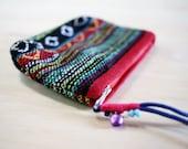 SALE: Handmade Woven Tribal Coin Purse Wristlet