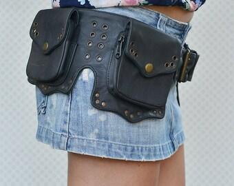 Cowgirl Leather Utility Belt, Festival Belt, Pocket Belt, Bum Bag, Hip Bag, Festival Fanny Pack //CHRISTMAS SALE//