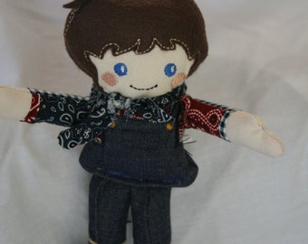 cloth doll  little country boy