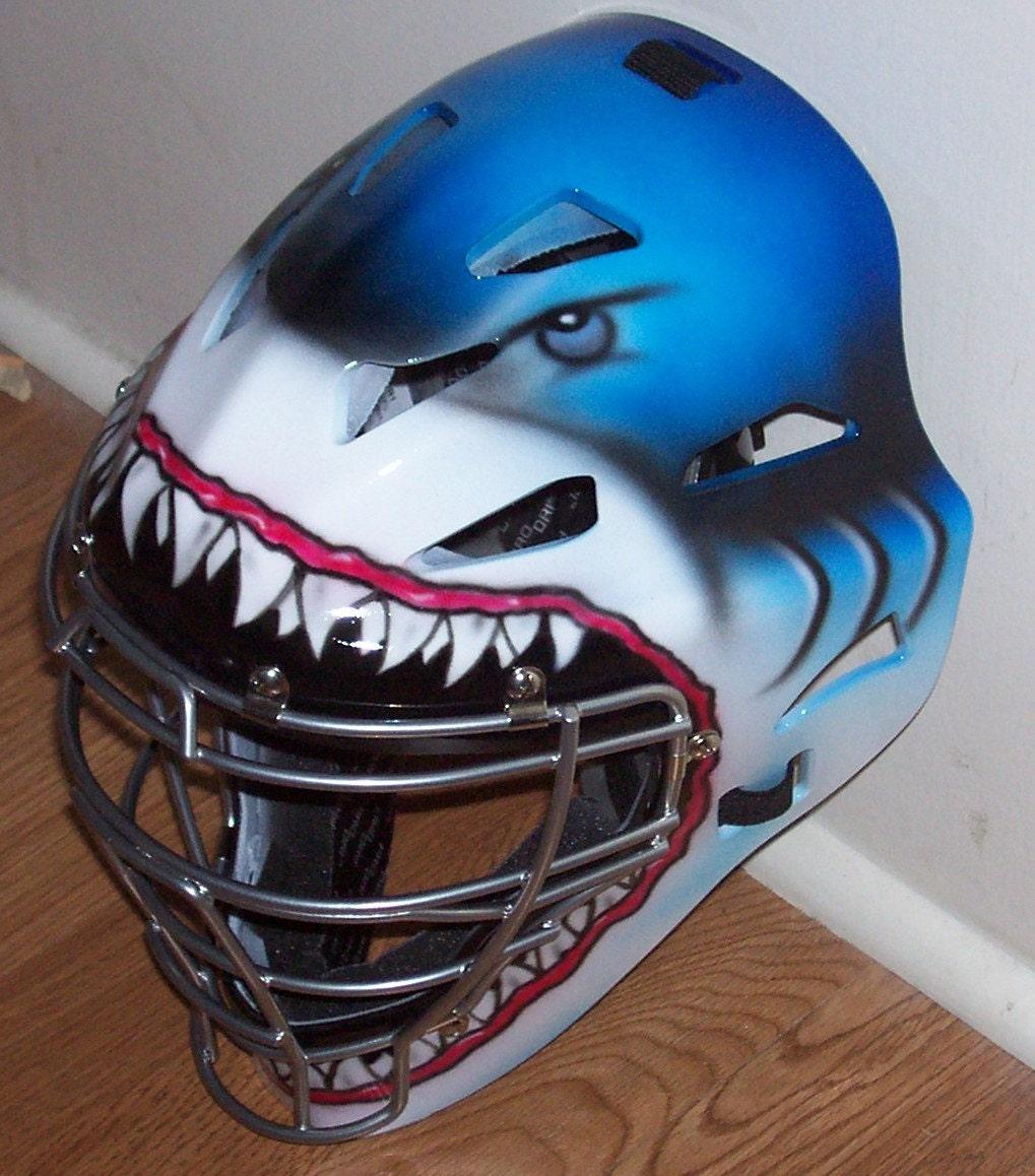 Shark Catchers Helmet Airbrushed Rawlings Cfa1jp Adult
