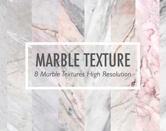 Digital Download pack of 8 marble texture for background