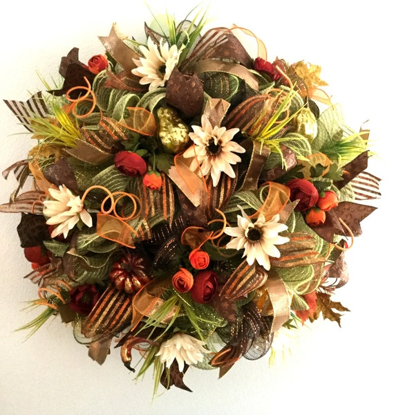 Fall Mesh Wreath Mesh Wreaths For Sale Fall Outdoor