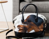 Glimmer Bag - Printed Cotton Tote Bag with Leather Details