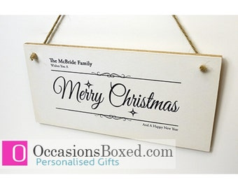 Wishing you a Merry Christmas Plaque