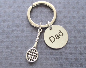 Father's Day gift - Tennis racket keyring - Tennis gift for Dad - Father's Day keyring - Tennis player keyring for Dad - Dad keychain - UK