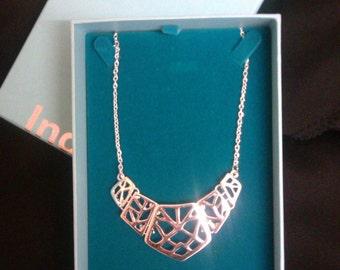 Beautiful Unique Silver Geometric Necklace