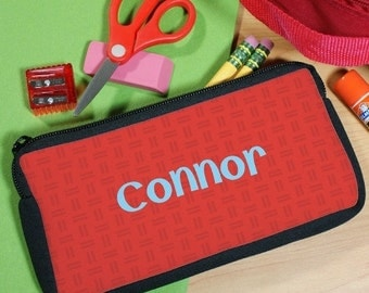 Personalized Name Red Pencil Case