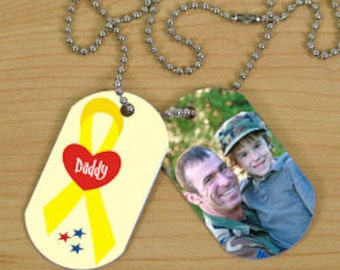 Personalized Military Photo Dog Tags