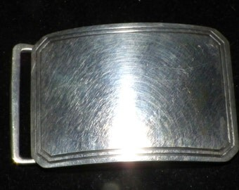 oLD STERLING sMALL bELT BUCKLE VALENTINE
