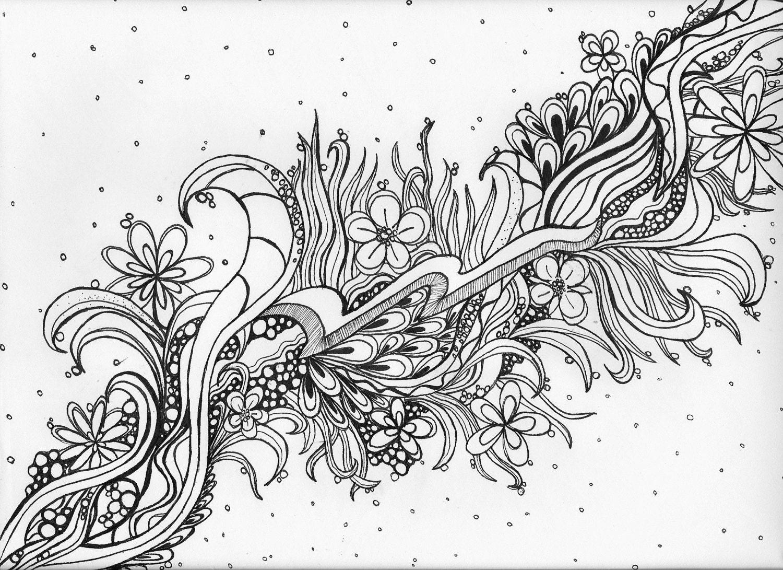 Adult coloring pageZen doodle artWall ArtOriginal Hand