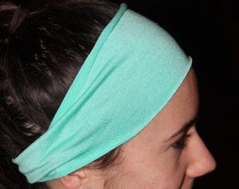 "4"" Yoga/Athletic Headband - Sparkly Mint Jersey"