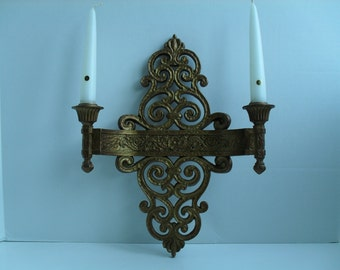 Gold Candle Sconce Romantic Gold Wall Sconce Syroco 4070