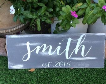Family Established Sign Family Established Wood Signs Wedding Gift Last Name Establish Home Established Sign Last Name Wood Sign