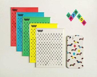 Name, Initials Sticker 5 Sheets Set - alphabet, number, mark sticker / 10S830