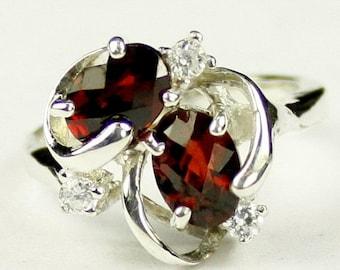 Summer Sale, 30% Off, SR016, Mozambique Garnet, 925 Sterling Silver Ring