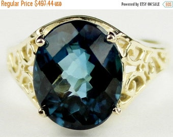 Fall is coming, 30% off, R057, London Blue Topaz, 10KY Gold Ring