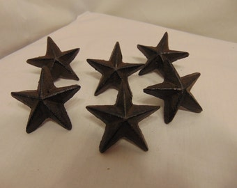Cast Iron Star Cabinet Furniture Door Drawer Pull knob Handle SET OF 6 #229