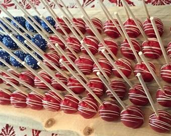Patriotic Cake Pops, 4 dozen