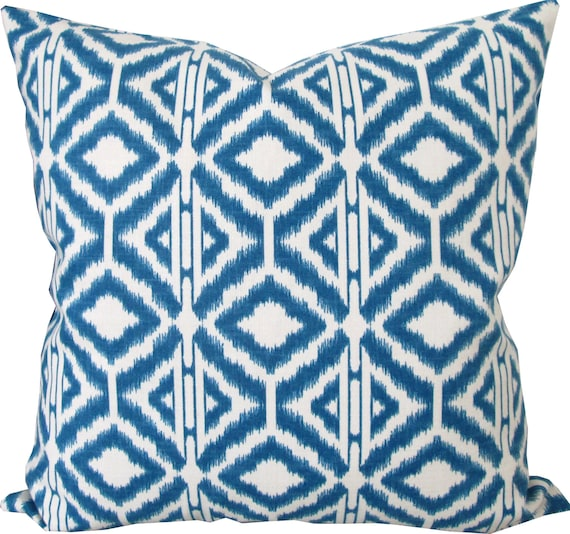 Decorative Pillow Cover Blue And White Ikat Accent Pillow Sofa