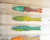 Beach Home Decor -Nautical Wooden Wall Art - Coastal Decor -Rustic Wooden Fish - Beach Decor -Coastal Designs -Whimsical wooden fish -Fish