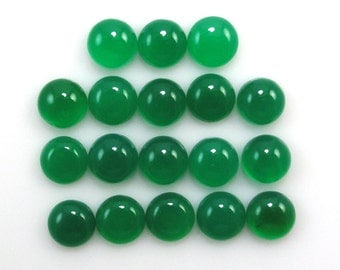 Green Onyx Cabochon Round 7mm Sale by Best in Gems (2341)