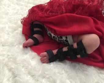 Black Gladiator baby sandals