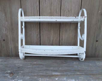 vintage metal shelf