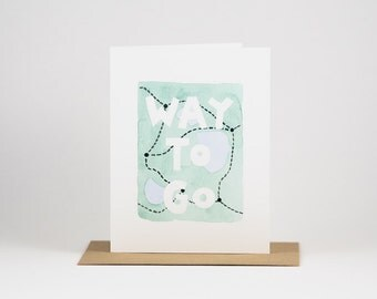 Way To Go - Trail Map - Congratulations Card