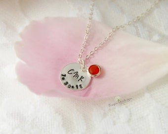Mom Necklace, Name Necklace, Birthstone Necklace, Mother's Necklace, Kid Name Necklace, Mother's Day Gift, Gifts for Mom, Birthstone Jewelry