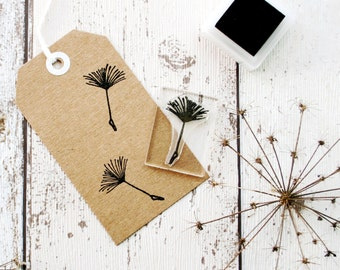 Dandelion Seed Head Stamp - Seed Head Stamp - Dandelion Flower Stamp - Make a Wish Stamp - Dandelion Gift Tags - Clear Stamp - Rubber Stamp