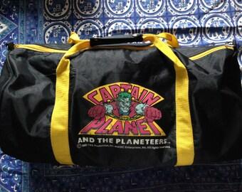Vintage Captain Planet Duffle Bag / Gym Bag