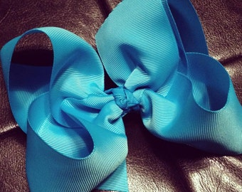 "XL 6"" wide boutique style hair bows"