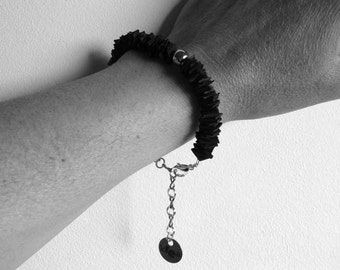 Bracelet DAKAR made of upcycled inner tubes