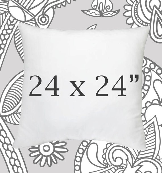 Faux Down Pillow Insert 24x24 Inch Pillow Forms by LilyPillow