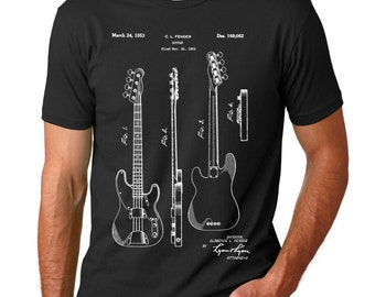Fender Precision Bass Guitar Patent Shirt, Guitarist, Musician Gift, Rock N Roll, Music Lover Gift, PP0008 Z1016