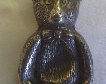 Vintage Baby's Rattle Teddy Bear