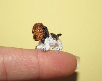 Unique Miniature BEAGLE Puppy Miniature dog tiny dog Miniature dollhouse pet portrait Dollhouse dog Dollhouse pet toy Custom dog portrait