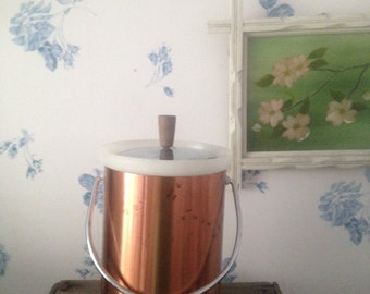 Vintage Copper Kromex Ice Bucket