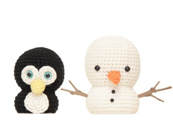 Mr Penguin and Snowman Amigurumi Patterns