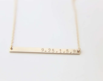 Personalized Date Necklace / Wedding Necklace / Personalized Name Necklace  EP026G