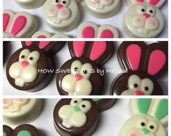 4p Easter Bunny Chocolate Covered Double Stuffed Oreos - Easter, Easter Bunny