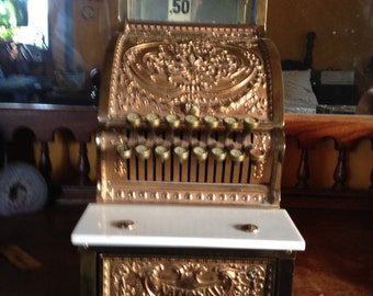 antique solid brass penny ncr 313 cash register 1906 professionally restored with keys