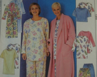 McCalls 3370, size large-xlarge, misses, womens, UNCUT sewing pattern, craft supplies, pajamas, robe, top, pants, shorts, tunic