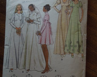 Butterick 6958, size 12, sewing pattern, craft supplies, bridal gown, bridesmaid dresses, wedding party, misses