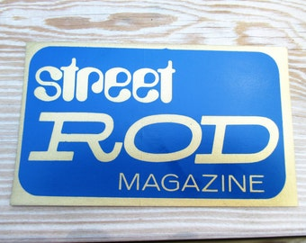 Vintage Street Rod Magazine Decal