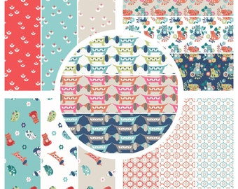 Fabric Bundle 'Special Offer' 5 x Half metres Lewis & Irene Patchwork Quilting Sam and Mitzi