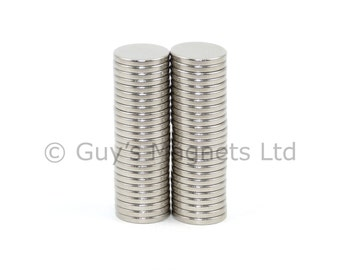 8mm x 1mm strong N52, high grade, strong neodymium round circular disk magnets ideal for magnetic card closures GuysMagnets