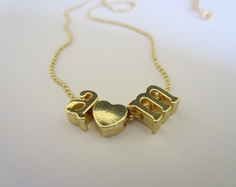 A and M initial necklace - Customize yours